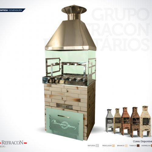 Churrasqueira de Vidro Revestida 64/74/Extra